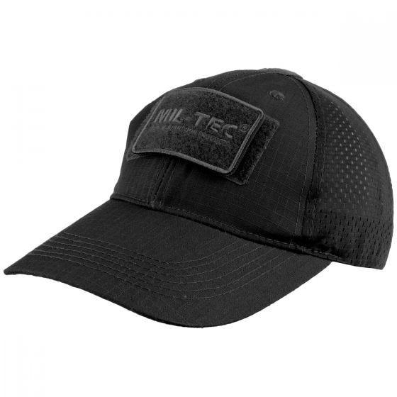 Mil-Tec cappellino da baseball con retina in nero
