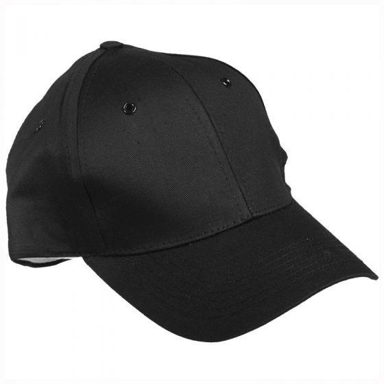 Mil-Tec cappellino da baseball con fascia in plastica in nero