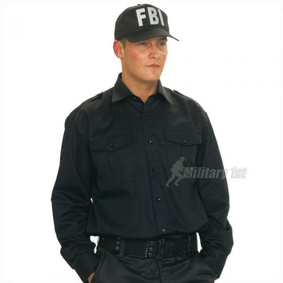Mil-Tec cappellino da baseball FBI con fascia in plastica in nero