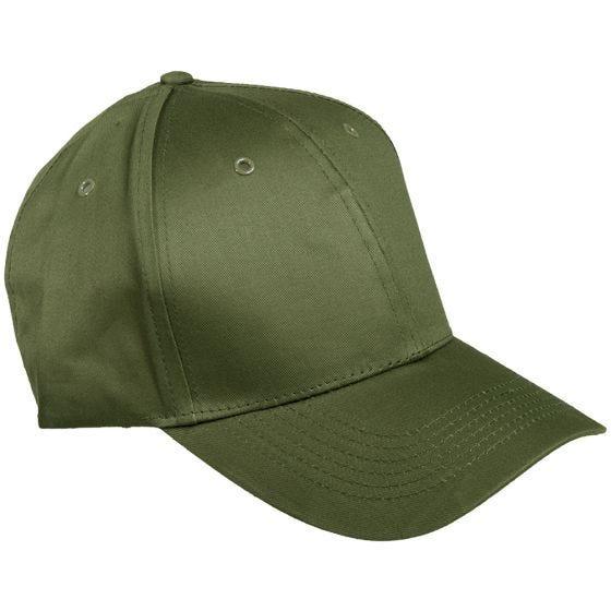 Mil-Tec cappellino da baseball con fascia in plastica in verde oliva
