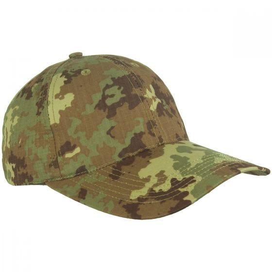 Mil-Tec cappellino da baseball con fibbia in metallo in Ripstop Vegetato Woodland
