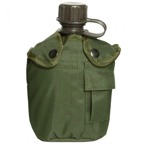 Mil-Tec borraccia militare da 1 litro con custodia in verde oliva