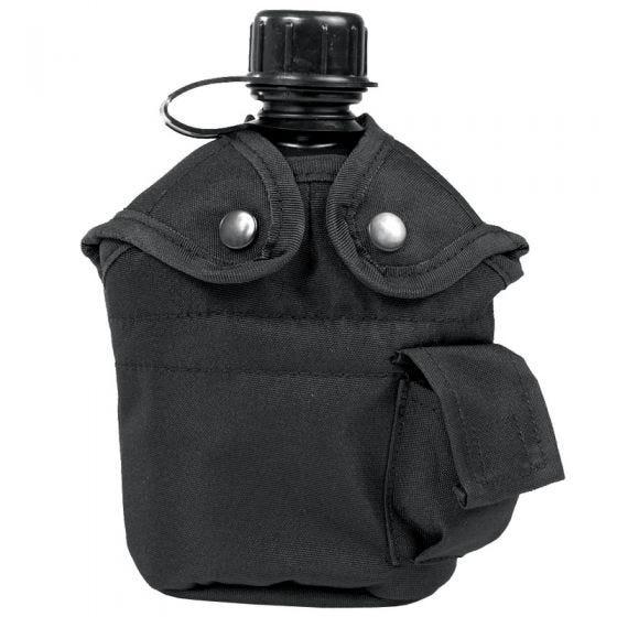Mil-Tec borraccia con bicchiere stile US in nero