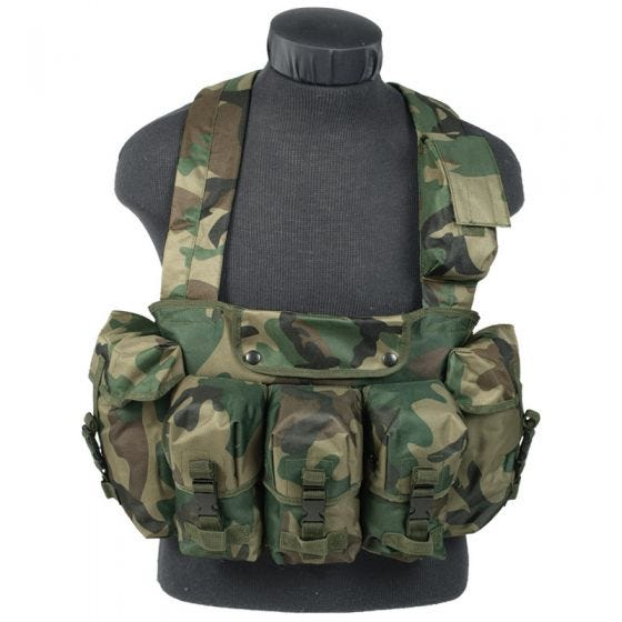 Mil-Tec Chest Rig in Woodland