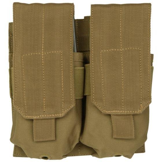 Mil-Tec custodia doppia portacaricatore M4/M16 MOLLE in Coyote