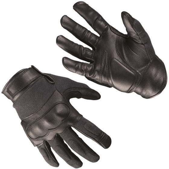 Mil-Tec guanti tattici in pelle / kevlar in nero