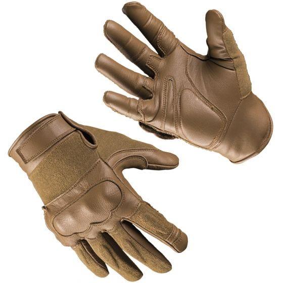 Mil-Tec guanti tattici in pelle / kevlar in Dark Coyote