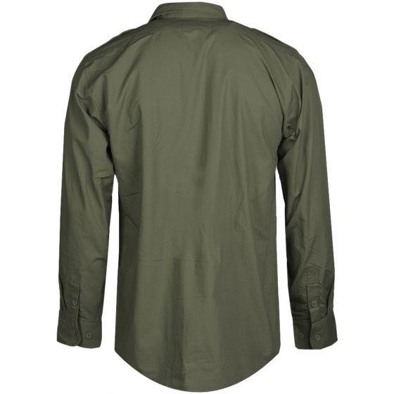 Mil-Tec camicia a maniche lunghe RipStop in verde oliva