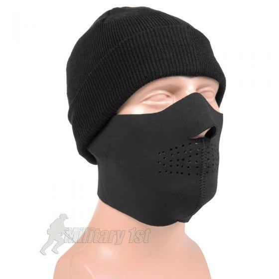 Mil-Tec semimaschera facciale in neoprene in nero