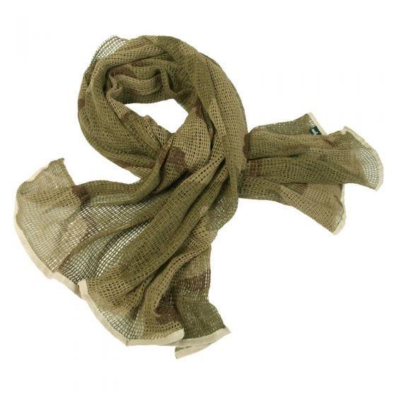 Mil-Tec sciarpa in rete in Desert 3 Colori