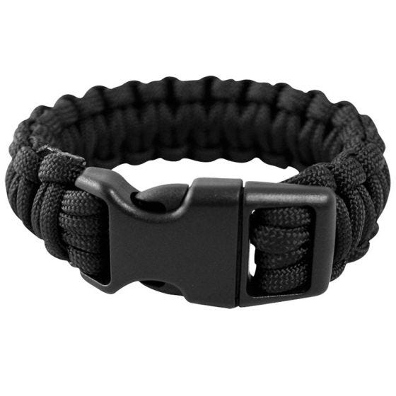 Mil-Tec bracciale Paracord 15 mm in nero
