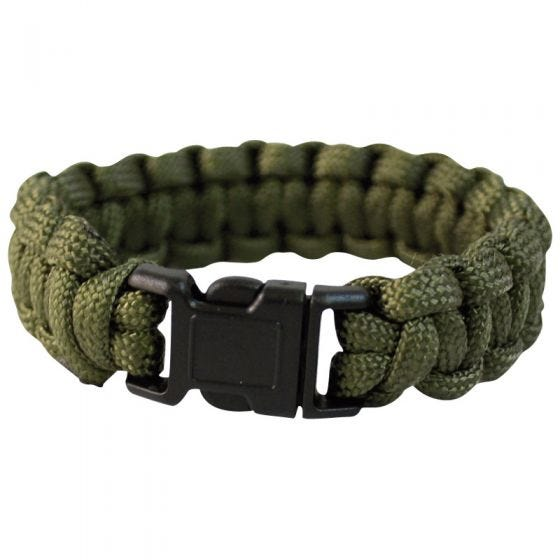 Mil-Tec bracciale Paracord 22 mm in verde oliva