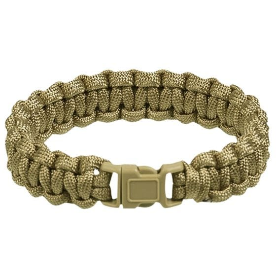Mil-Tec bracciale Paracord 15 mm in Coyote