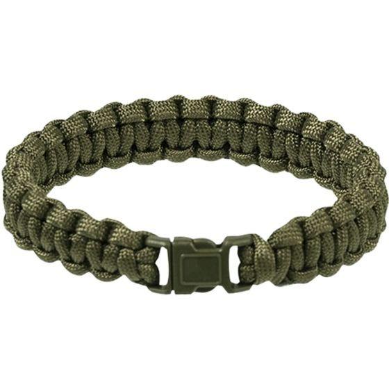 Mil-Tec bracciale Paracord 15 mm in verde oliva