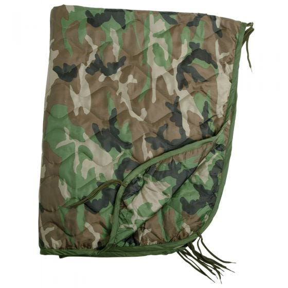 Mil-Tec poncho liner in Woodland