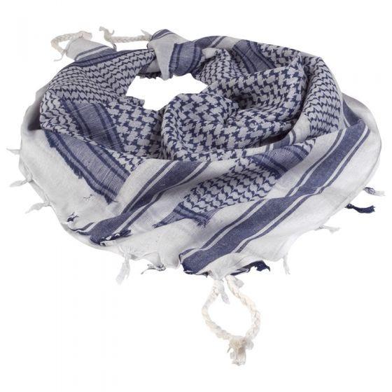 Mil-Tec kefiah in bianco / blu