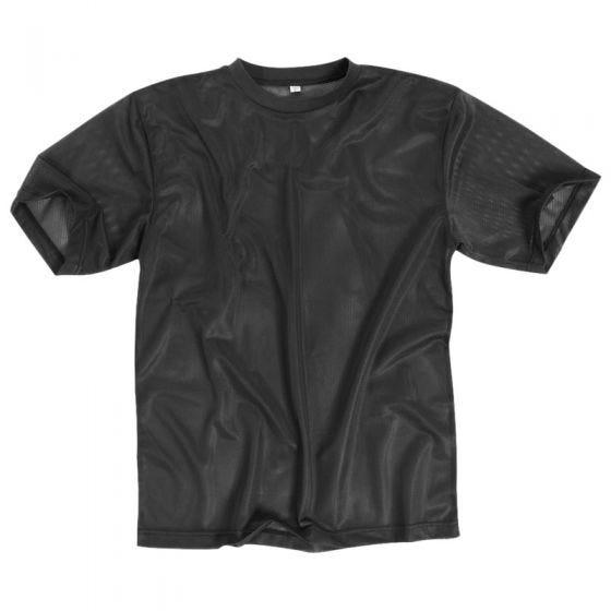Mil-Tec T-Shirt in mesh nera