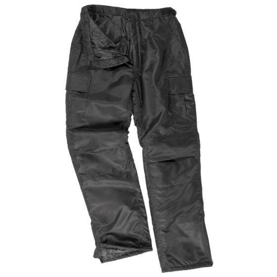 Mil-Tec pantaloni termici US MA1 in nero