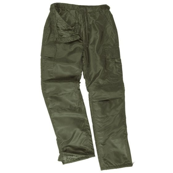 Mil-Tec pantaloni termici US MA1 in verde oliva