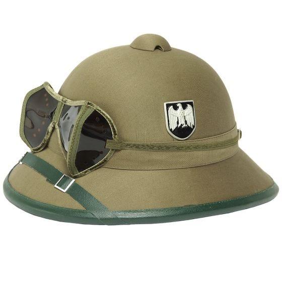 Mil-Tec Wehrmacht Elmetto Tropicale con Occhialini