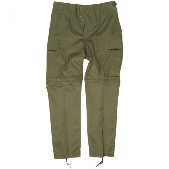 Mil-Tec pantaloni Zip-Off Combat in verde oliva