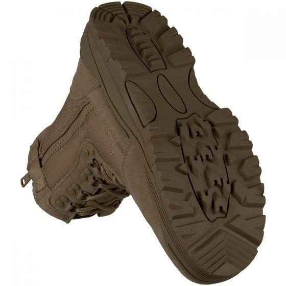 Mil-Tec stivali tattici con zip laterale in marrone