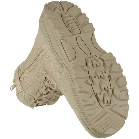 Mil-Tec stivali tattici con zip laterale in cachi
