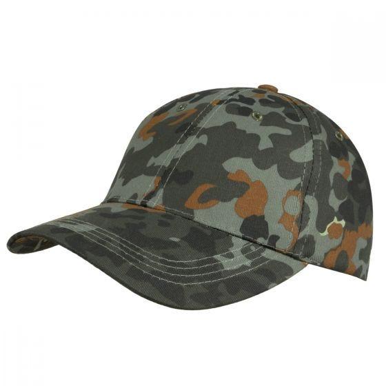 Mil-Tec cappellino da baseball per bambini con fascia in plastica in Flecktarn