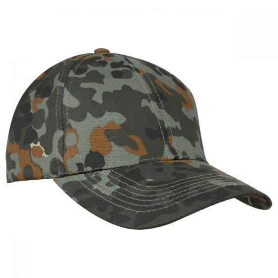 Mil-Tec cappellino da baseball con fascia in plastica in Flecktarn