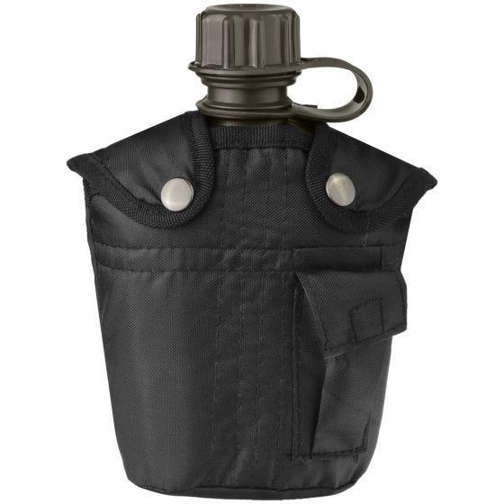 Mil-Tec borraccia militare da 1 litro con custodia in nero
