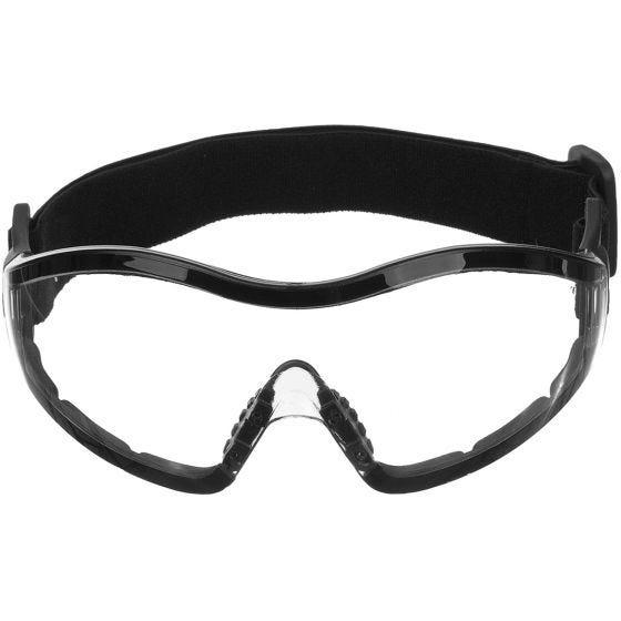 Mil-Tec occhiali protettivi Commando per parapendio/paracadutismo trasparenti