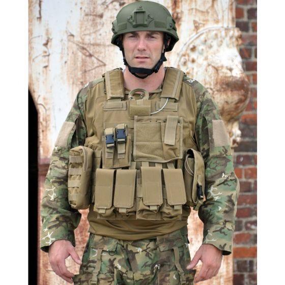 Mil-Tec gilet Combat MOLLE M.Release in Coyote