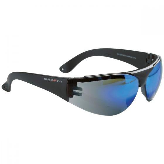 Swiss Eye occhiali protettivi Outbreak con montatura in nero / lenti blu specchiate