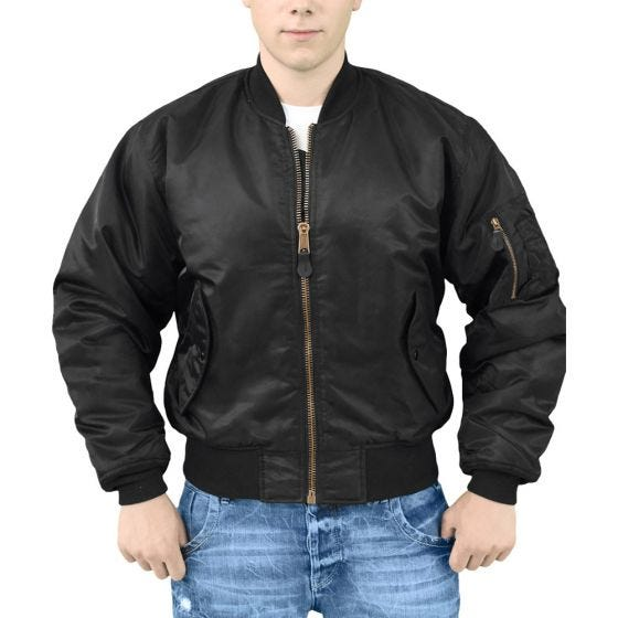 Surplus giacca da pilota MA-1 in nero