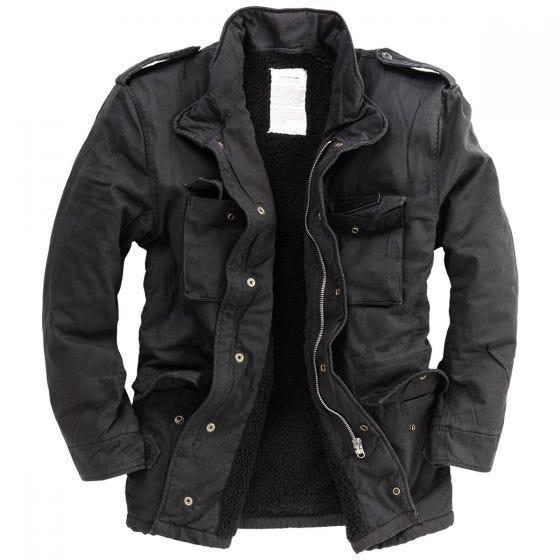 Surplus giacca invernale paracadutista in nero slavato