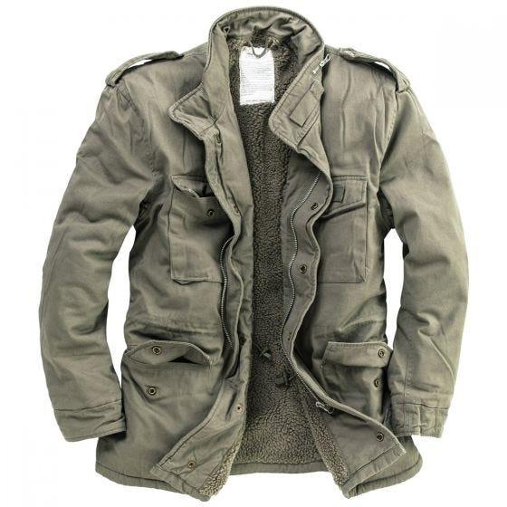 Surplus giacca invernale paracadutista in verde oliva slavato