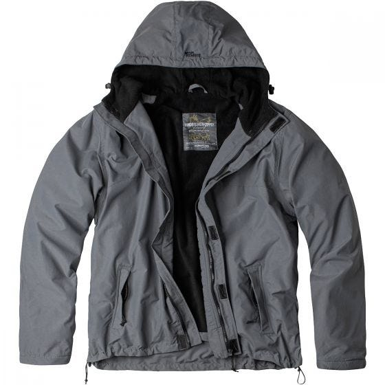 Surplus giacca a vento con zip in grigio