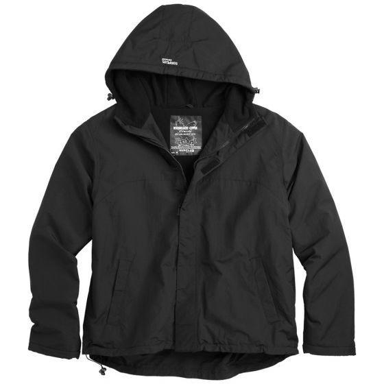 Surplus giacca a vento con zip in nero