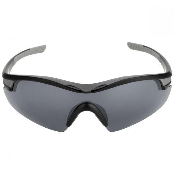 Swiss Eye occhiali da sole Novena - 3 lenti / montatura in nero e grigio opaco