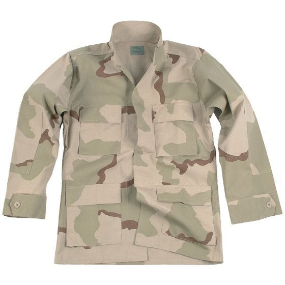 Teesar camicia BDU in ripstop in Desert a 3 colori