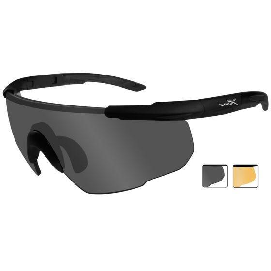 Wiley X occhiali Saber Advanced lenti fumé grigie + lenti ruggine chiaro e struttura in nero opaco