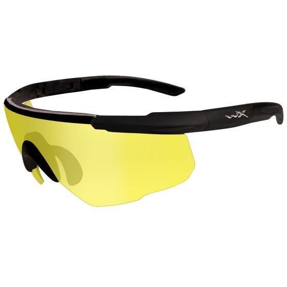 Wiley X occhiali Saber Advanced con lenti Pale Yellow e struttura in nero opaco