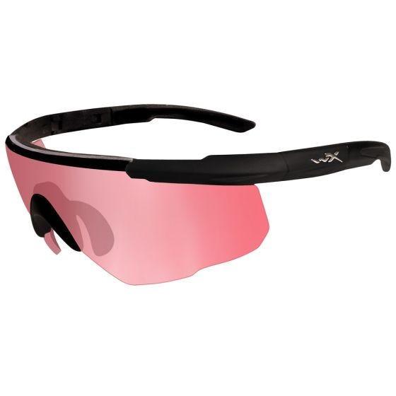Wiley X occhiali Saber Advanced con lenti Vermillion e struttura in nero opaco