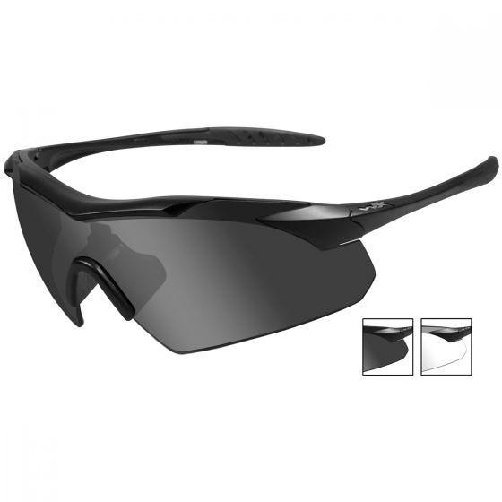 Wiley X occhiali Vapor con lenti fumé grigie + lenti trasparenti e struttura in nero opaco