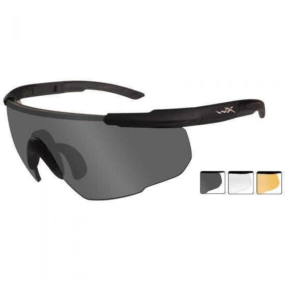 Wiley X occhiali Saber Advanced lenti fumé grigie + lenti trasparenti + lenti ruggine chiaro e struttura in nero opaco