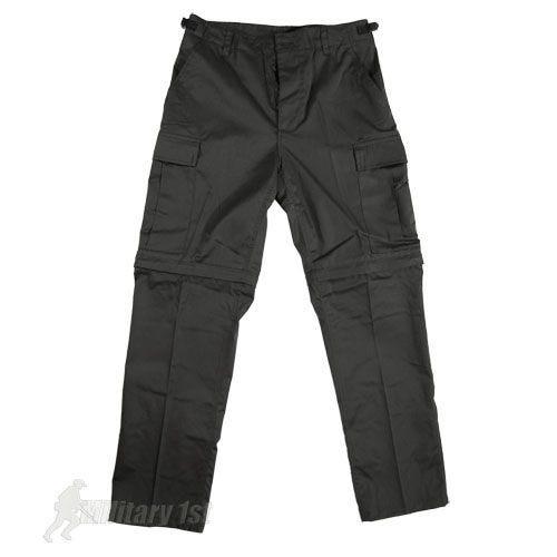 Mil-Tec pantaloni Zip-Off Combat in nero