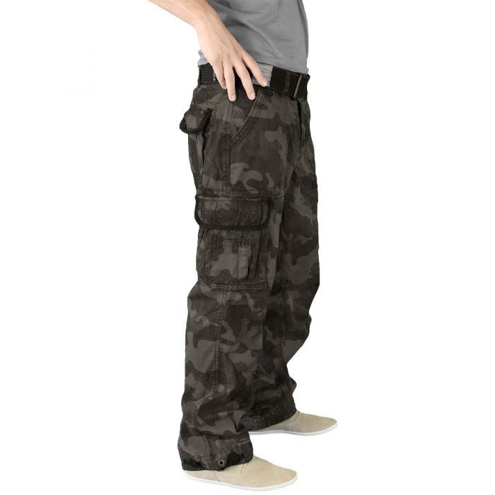 Surplus pantaloni vintage Premium in Black Camo