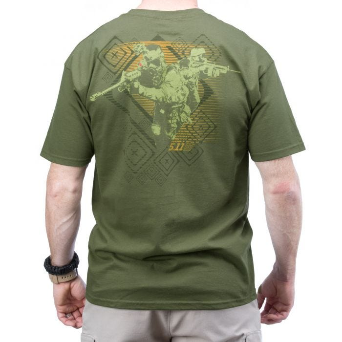 5.11 Red Scope Logo T-Shirt OD Green            DISC
