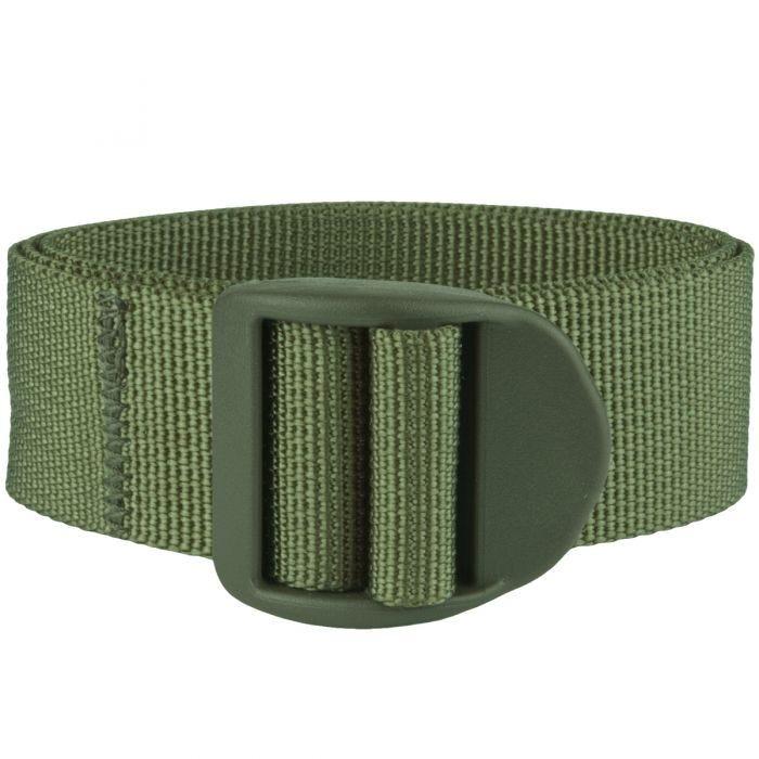 Mil-Tec cinghia da 25 mm con fibbia e lunghezza 120 cm in verde oliva