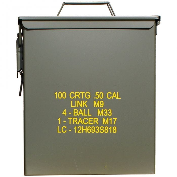 Mil-Tec Box munizioni US M9 cal,50 in verde oliva grande